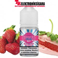 Dinner Lady Strawberry Macaroon 30ml Premium Salt Likit